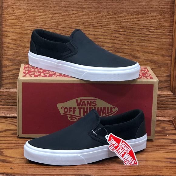 ceff6a45de Vans Classic Slip On Surplus Nylon Black Shoes NWT